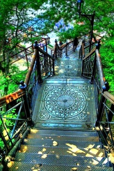 Stairway, Montmartre, Paris, France