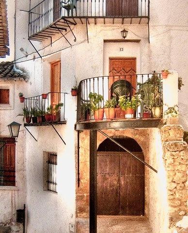 Balconies, Letur, Spain