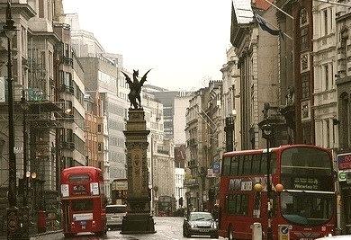 Rainy Day, London, England