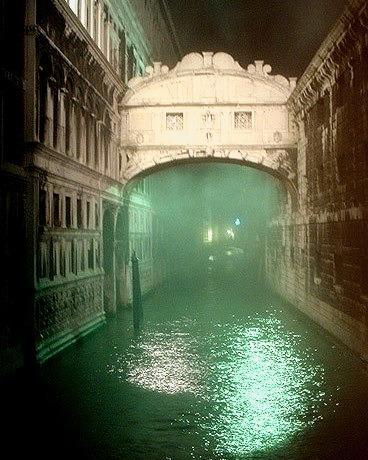 Foggy Night, Bridge of Sighs, Venice, Italy