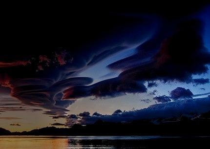 Lenticular Clouds, Lake Crowley, California