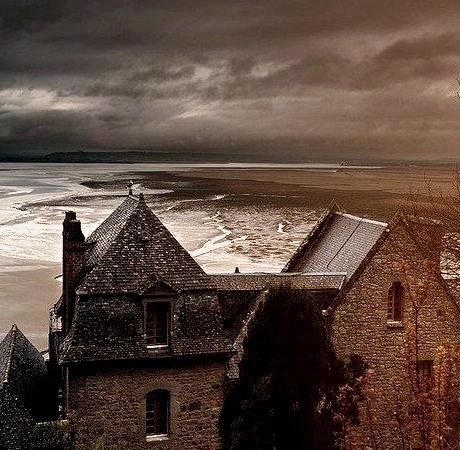 Stormy Sea, Mont Saint Michel, France